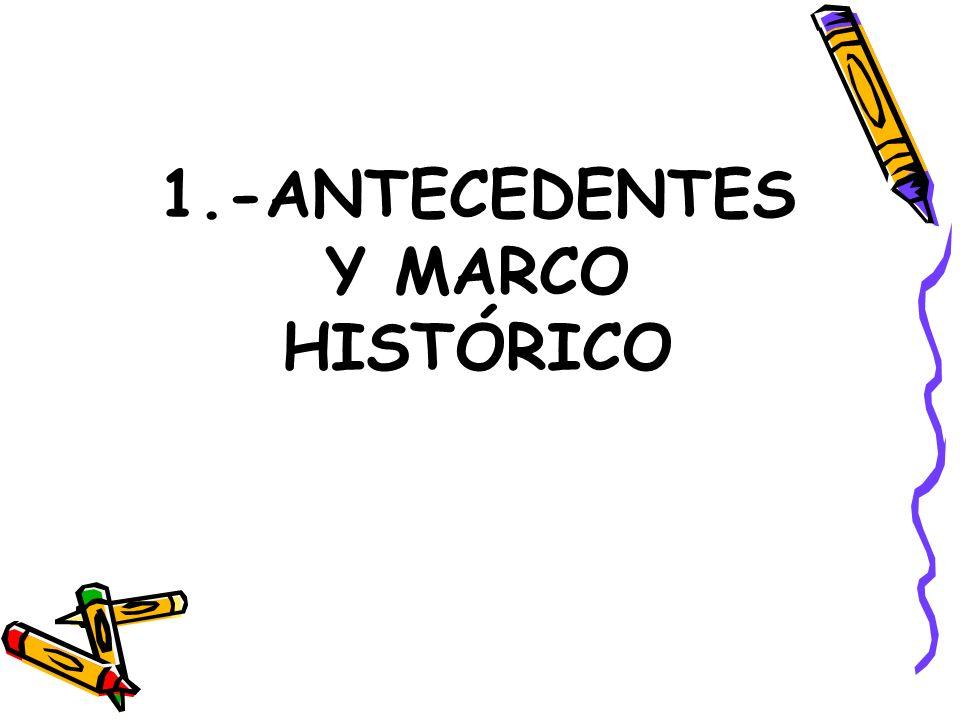 1.-ANTECEDENTES Y MARCO HISTÓRICO