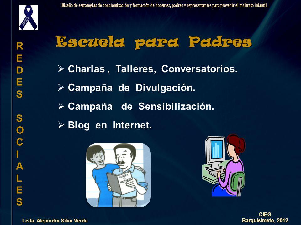 Propuesta Lcda. Alejandra Silva Verde Diseño de estrategias de concientización y formación de docentes, padres y representantes para prevenir el maltr