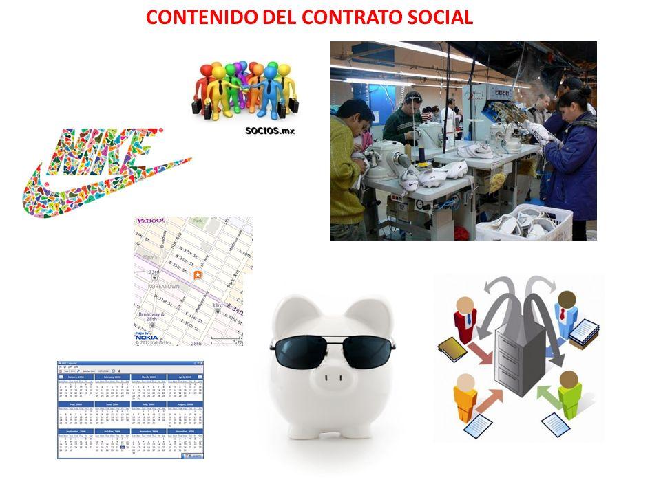 CONTENIDO DEL CONTRATO SOCIAL