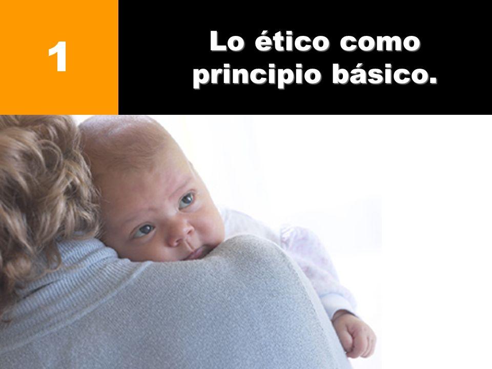 Lo ético como principio básico. 1