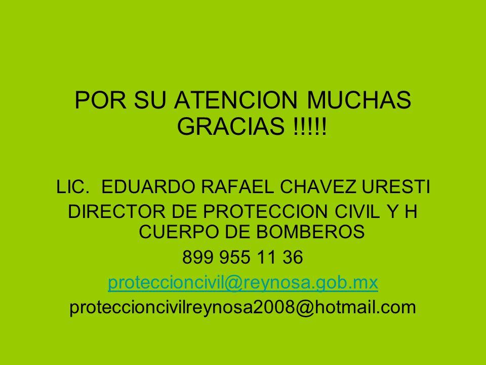 POR SU ATENCION MUCHAS GRACIAS !!!!. LIC.
