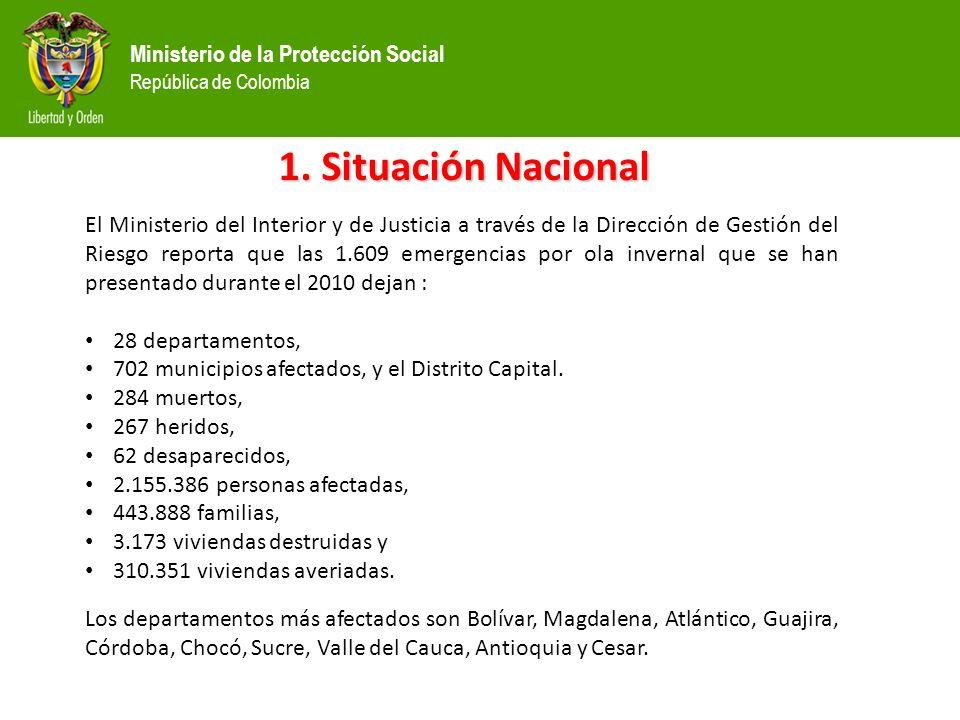 Ministerio de la Protección Social República de Colombia Sistema de Información/Cadena de frío Seguimiento diario de las dosis aplicadas en los albergues, notificación semanal de la vacunación en formato diseñado e informe mensual.