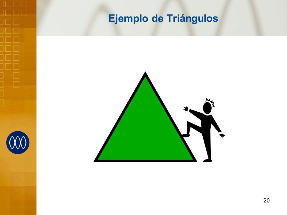 20 Ejemplo de Triángulos
