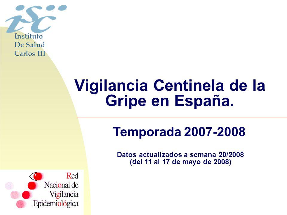 Vigilancia Centinela de la Gripe en España.