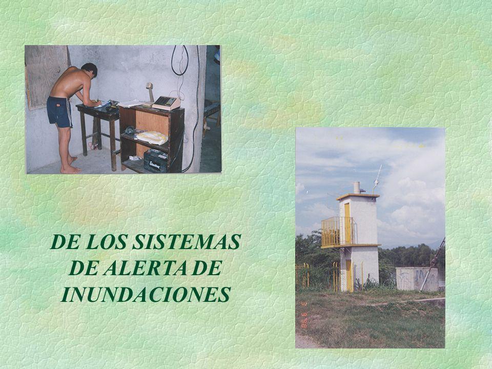 DE LOS SISTEMAS DE ALERTA DE INUNDACIONES