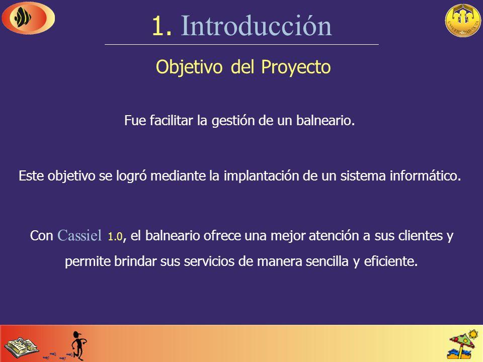 Breve descripción 1. Introducción El Proyecto Final consistió en el desarrollo de un sistema de información integral que abarcase los distintos servic