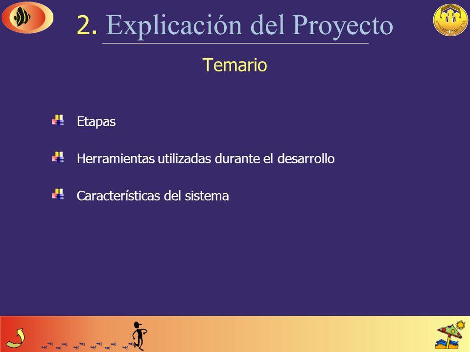 Temario 1. Introducción Breve descripción Objetivos del Proyecto Objetivos del Sistema Límites del Sistema Implantación del Sistema