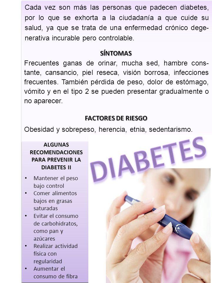 Cada vez son más las personas que padecen diabetes, por lo que se exhorta a la ciudadanía a que cuide su salud, ya que se trata de una enfermedad crón