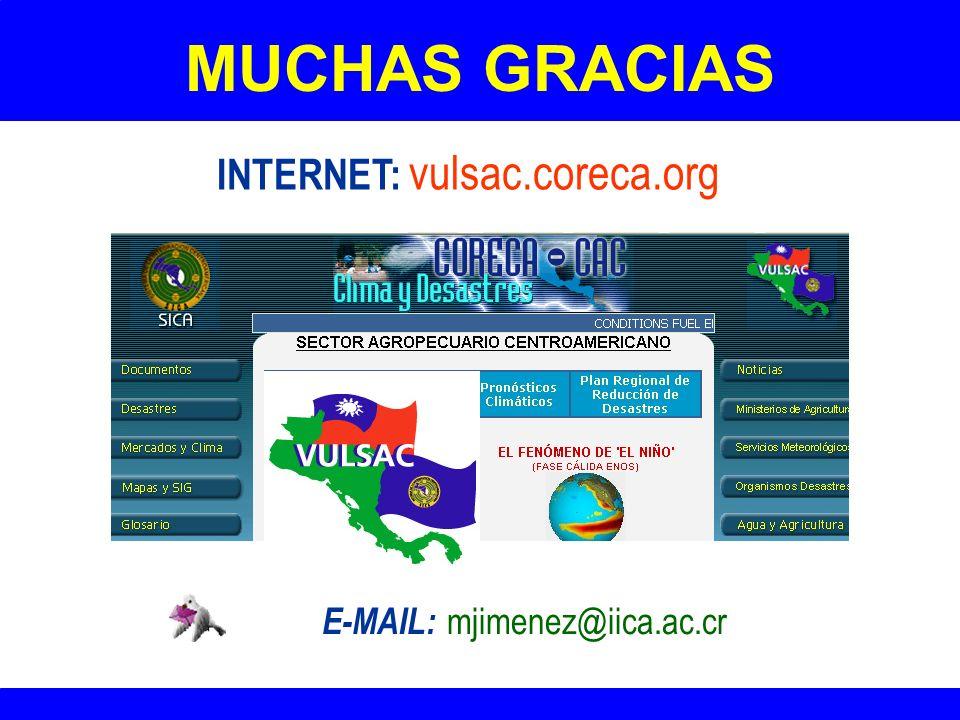 12 MUCHAS GRACIAS El Proyecto VULSAC reduce la vulnerabilidad del sector agropecuario centroamericano gracias al apoyo financiero del Gobierno de la R