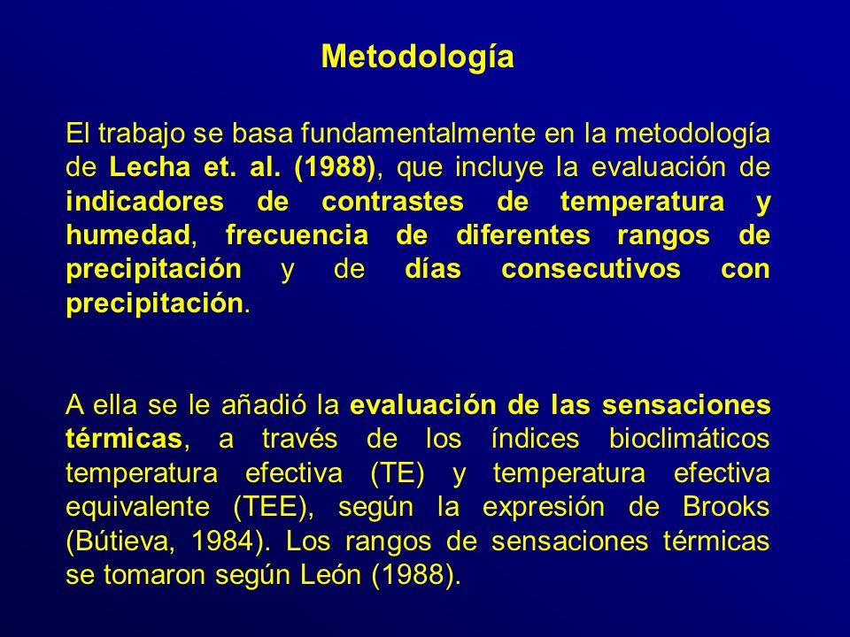 Metodología El trabajo se basa fundamentalmente en la metodología de Lecha et.