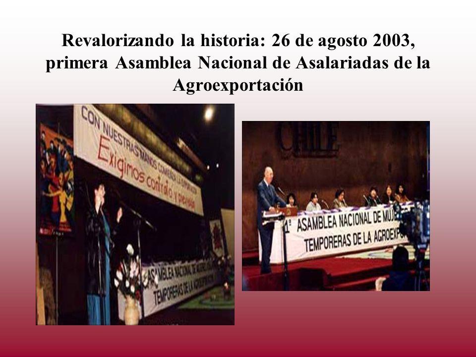 Revalorizando la historia: 26 de agosto 2003, primera Asamblea Nacional de Asalariadas de la Agroexportación