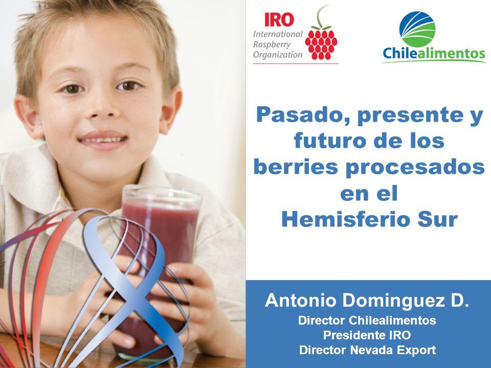 Pasado, presente y futuro de los berries procesados en el Hemisferio Sur Antonio Dominguez D.