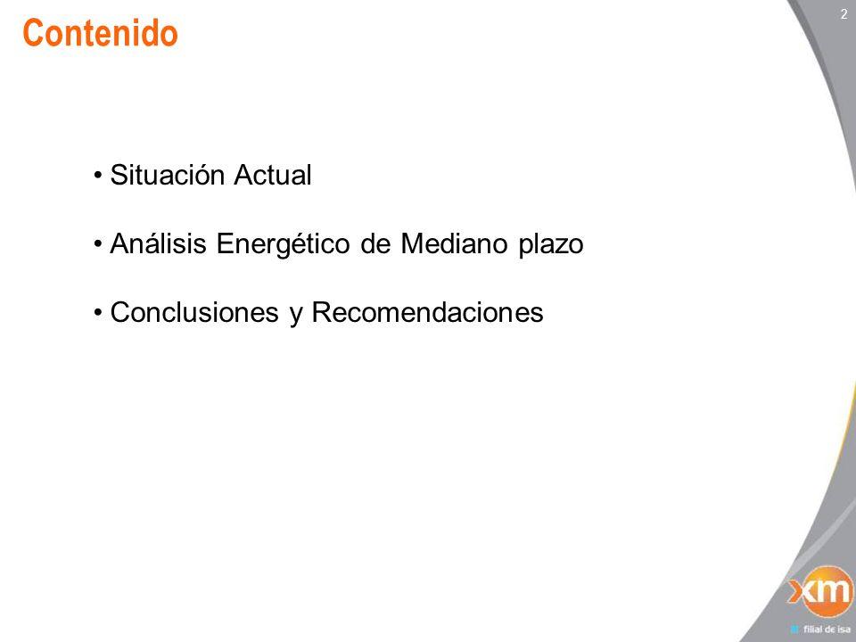 2 Contenido Situación Actual Análisis Energético de Mediano plazo Conclusiones y Recomendaciones