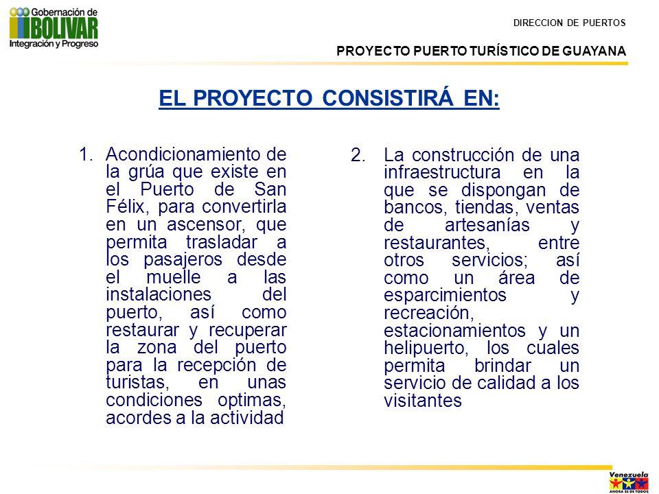 EL PROYECTO CONSISTIRÁ EN: 2.La construcción de una infraestructura en la que se dispongan de bancos, tiendas, ventas de artesanías y restaurantes, en