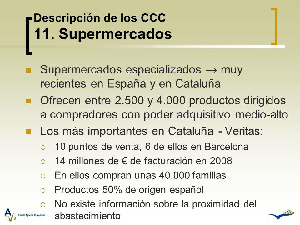 Supermercados especializados muy recientes en España y en Cataluña Ofrecen entre 2.500 y 4.000 productos dirigidos a compradores con poder adquisitivo