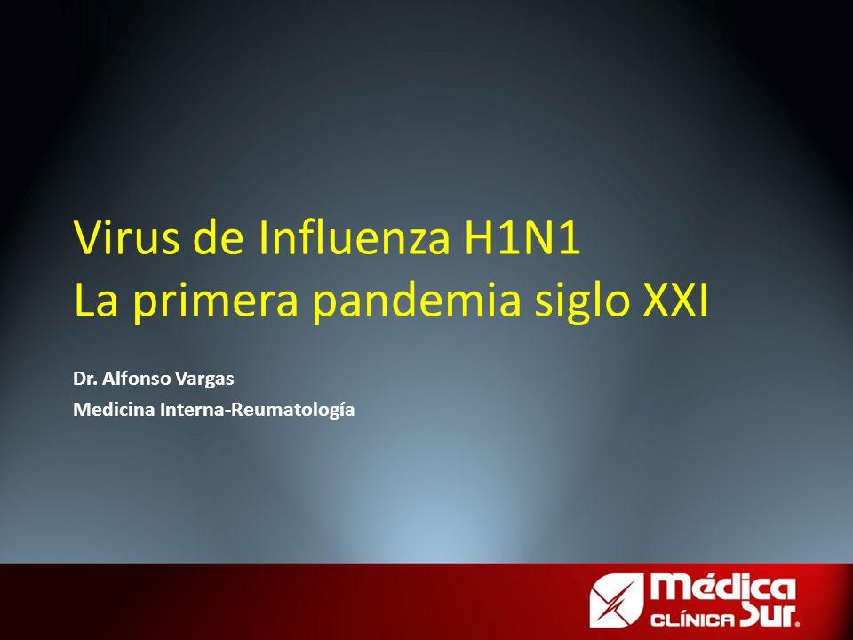Virus de Influenza H1N1 La primera pandemia siglo XXI Dr. Alfonso Vargas Medicina Interna-Reumatología