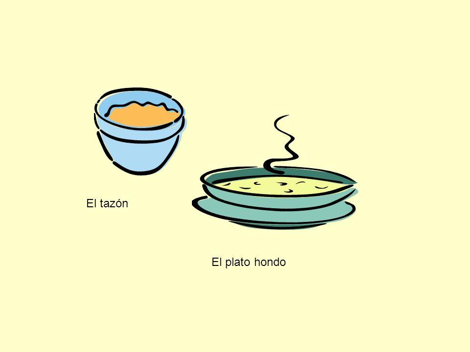 La taza El platito El azúcar La pimienta La sal