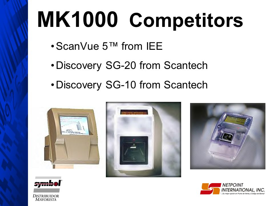 MK1000 Competitors ScanVue 5 from IEE Discovery SG-20 from Scantech Discovery SG-10 from Scantech