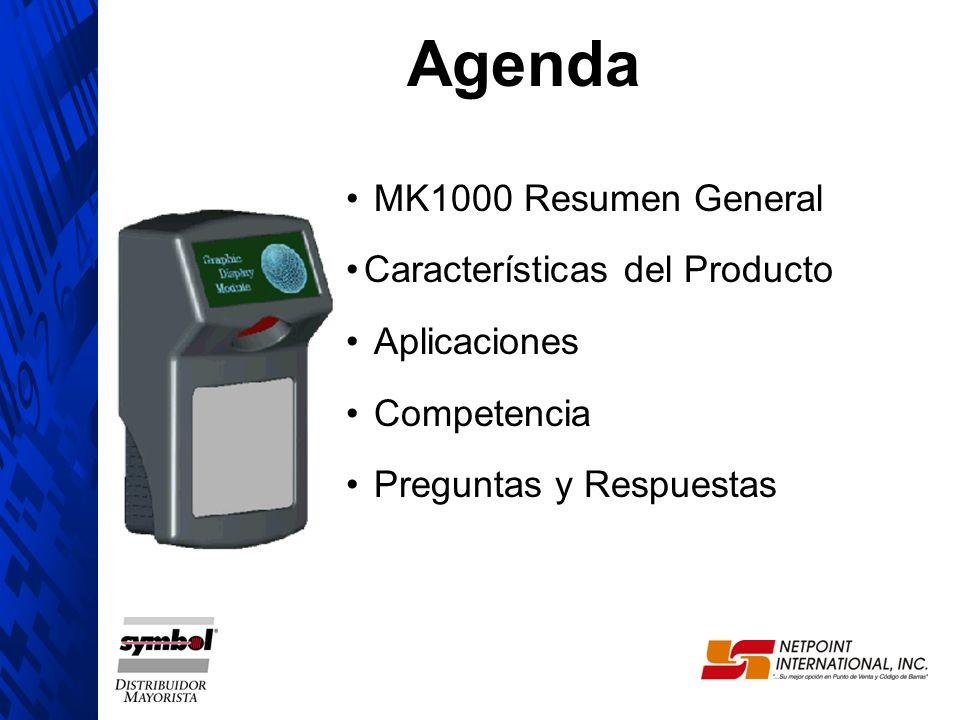 Agenda MK1000 Resumen General Características del Producto Aplicaciones Competencia Preguntas y Respuestas
