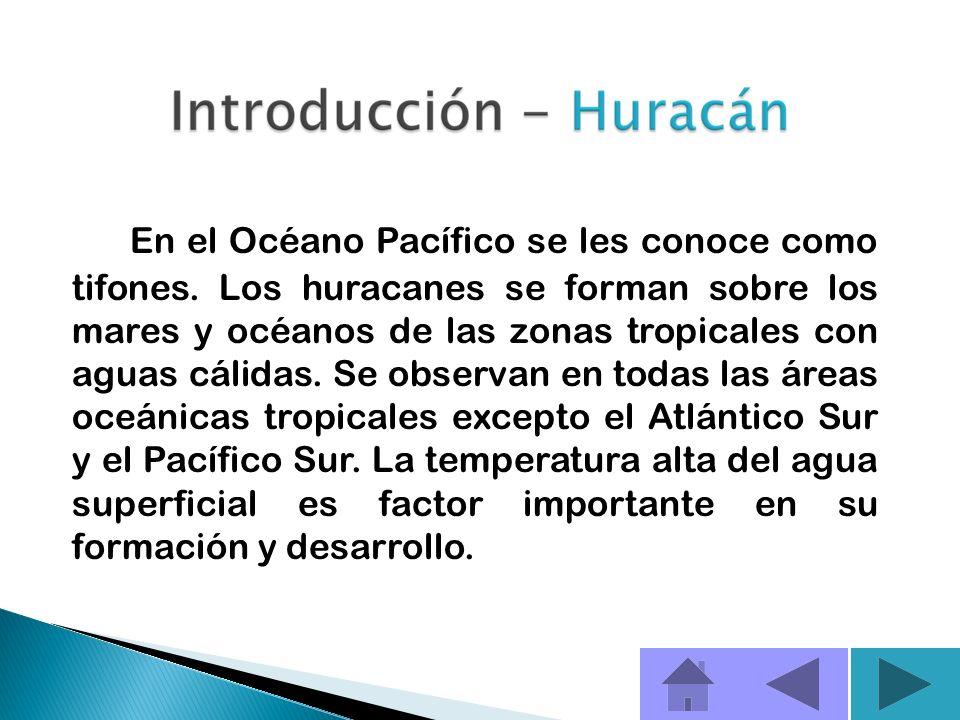 Huracán es un tipo de ciclón tropical - es el término genérico para un sistema de vientos en forma de espiral que se desplaza sobre la superficie terr