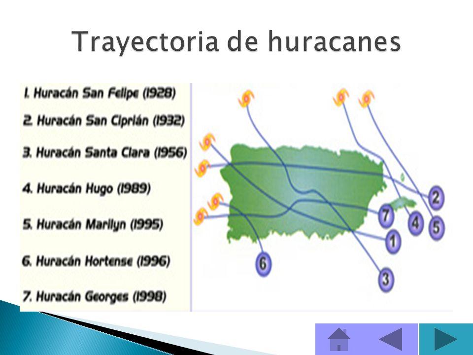 Las trayectorias de las tormentas tropicales y huracanes son fáciles de seguir y normalmente sus avisos y alertas, se emiten con más anticipación que