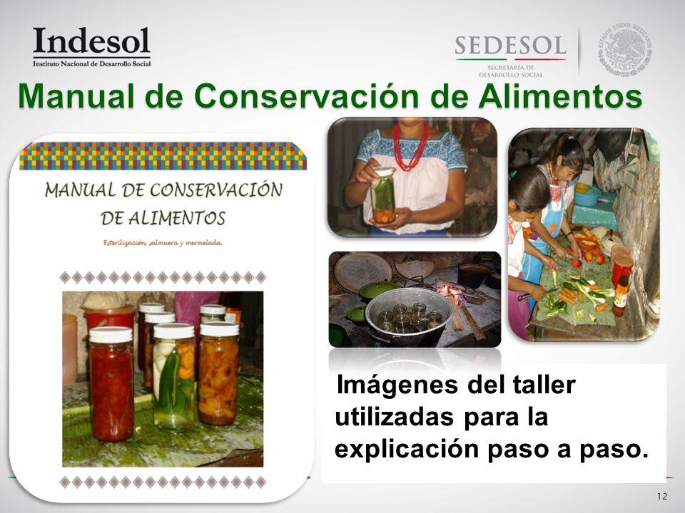 Imágenes del taller utilizadas para la explicación paso a paso. 12