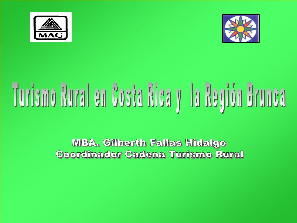 Problemas asociados a turismo rural Beneficios no llenan expectativas Altos costos de desarrollo Baja demanda Falta de habilidades esenciales Dominio de operadores de turismo masivo (Hjalajer, 1996; Sharpley, 2002)