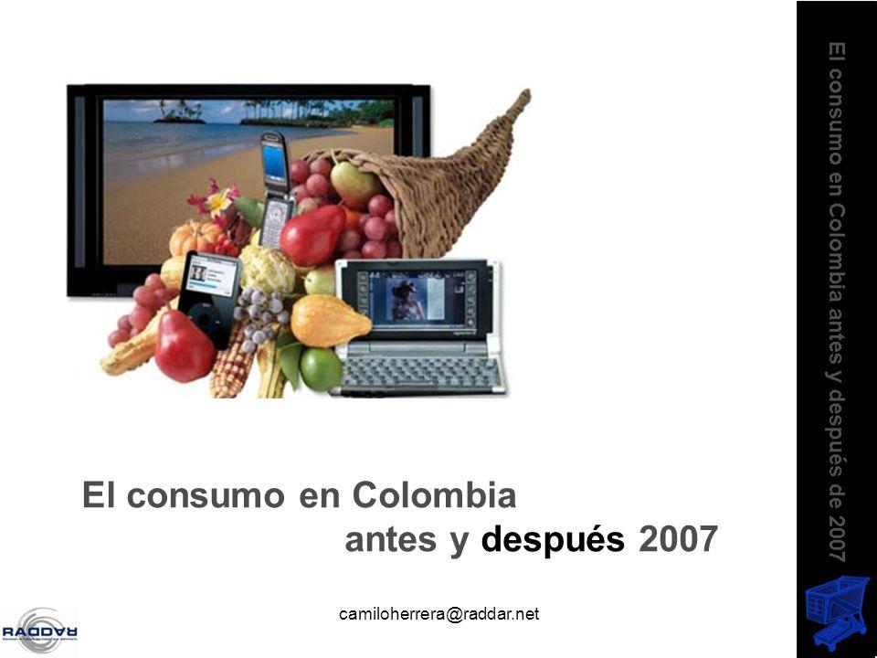 camiloherrera@raddar.net El consumo en Colombia antes y después 2007