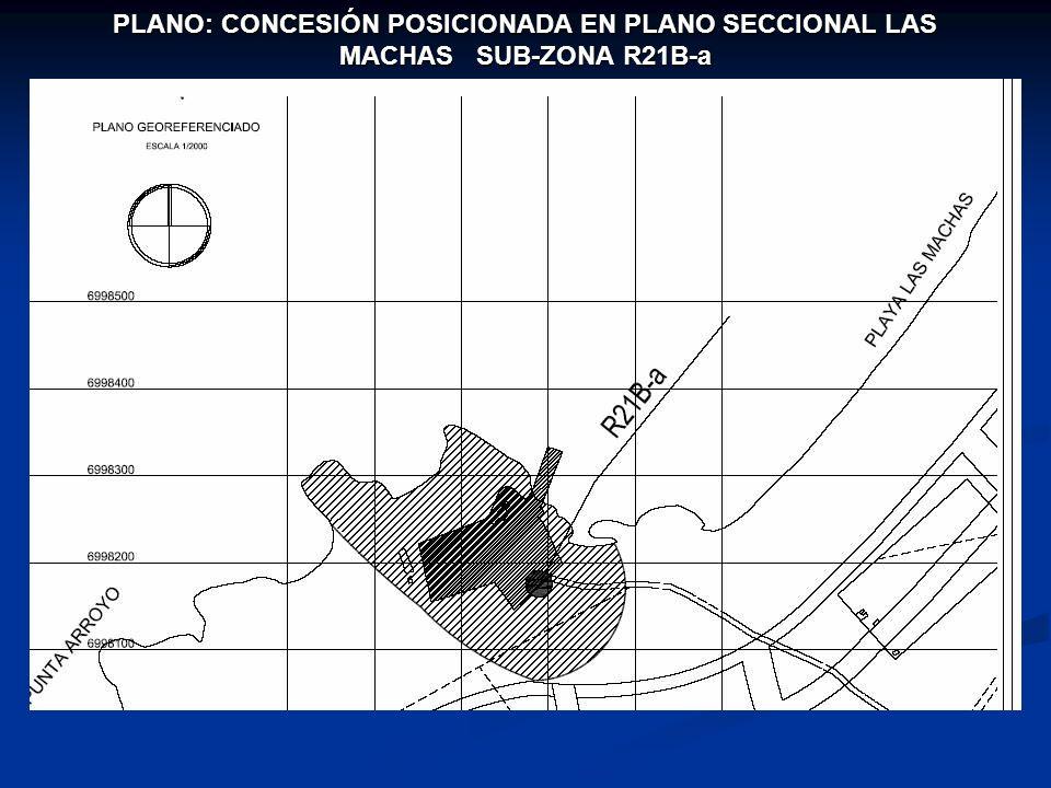 PLANO: CONCESIÓN POSICIONADA EN PLANO SECCIONAL LAS MACHAS SUB-ZONA R21B-a