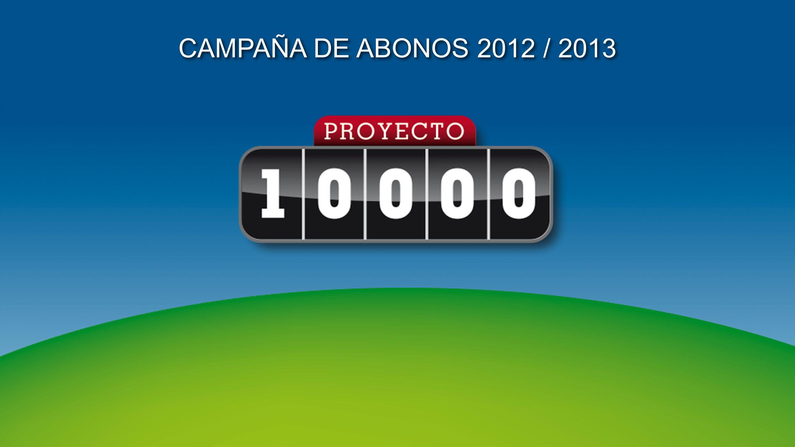 En Junio de 2011 presentamos Proyecto 10.000 como Plan Estratégico, con tres objetivos fundamentales: 1.