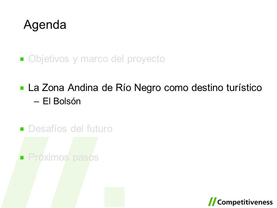 Agenda Objetivos y marco del proyecto La Zona Andina de Río Negro como destino turístico –El Bolsón Desafíos del futuro Próximos pasos