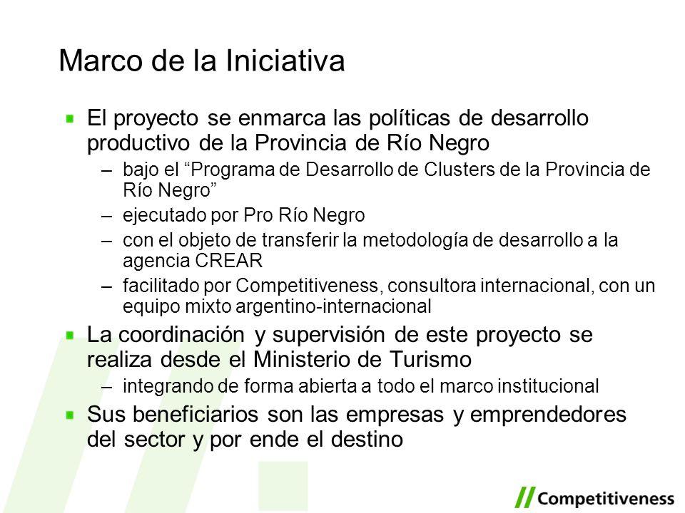 Marco de la Iniciativa El proyecto se enmarca las políticas de desarrollo productivo de la Provincia de Río Negro –bajo el Programa de Desarrollo de C