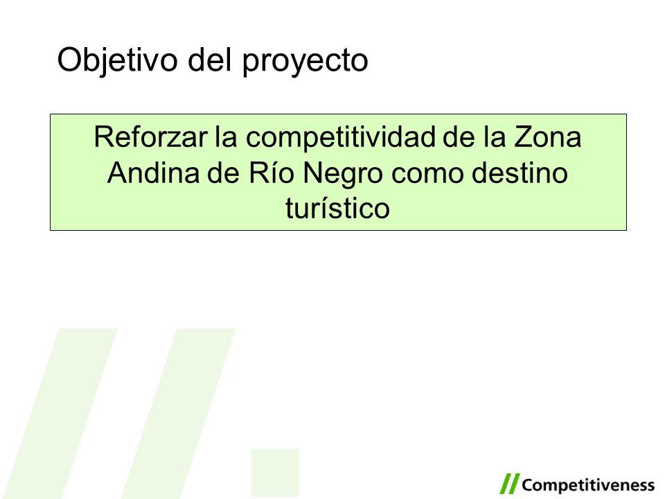 Objetivo del proyecto Reforzar la competitividad de la Zona Andina de Río Negro como destino turístico