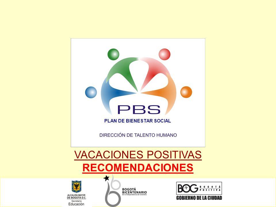 VACACIONES POSITIVAS RECOMENDACIONES