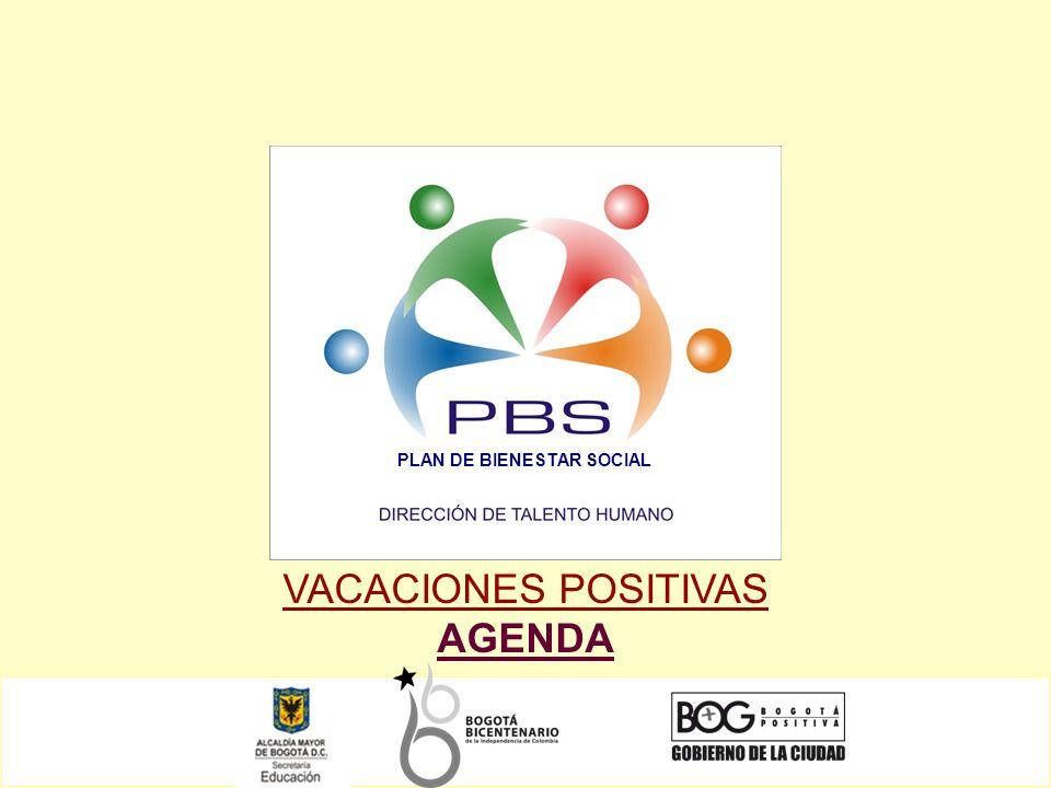 VACACIONES POSITIVAS AGENDA