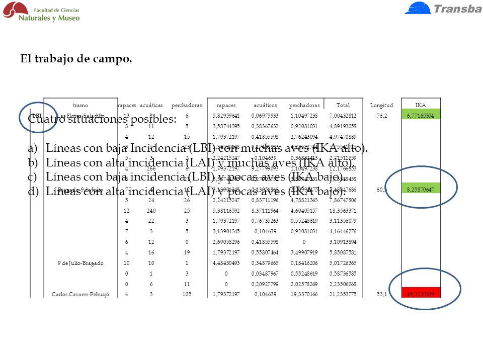 tramorapacesacuáticasperchadorasrapacesacuáticosperchadorasTotalLongitudIKA LBI Las Flores-Saladillo13265,829596410,069759331,104972387,0043281276,26,