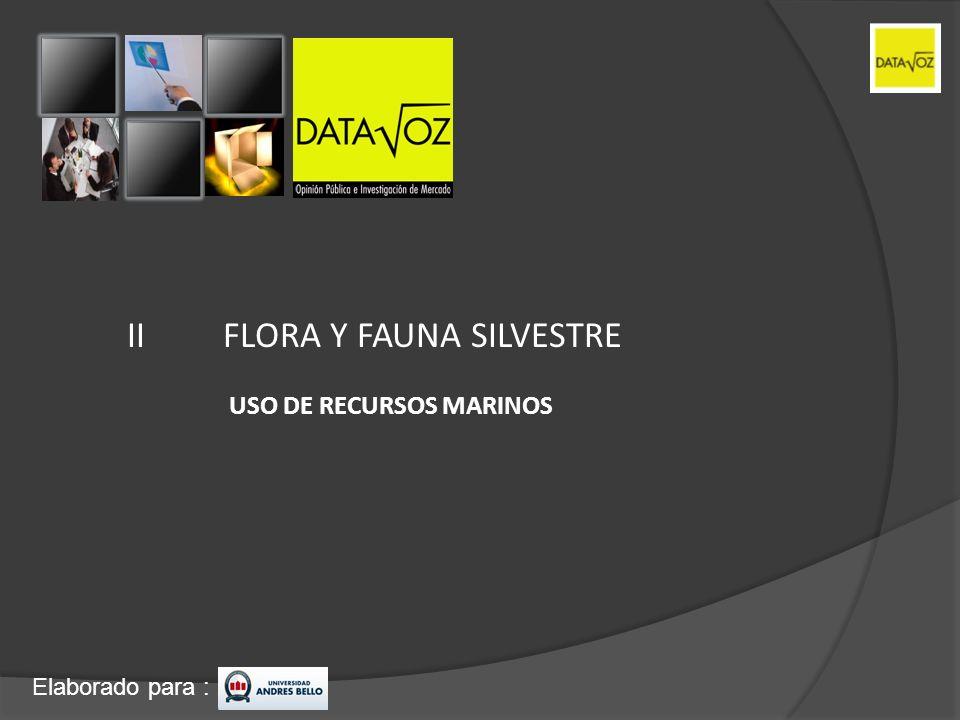 Elaborado para : IIFLORA Y FAUNA SILVESTRE USO DE RECURSOS MARINOS