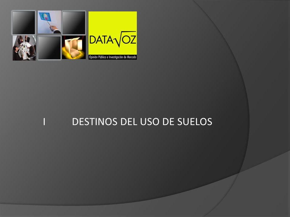 I DESTINOS DEL USO DE SUELOS