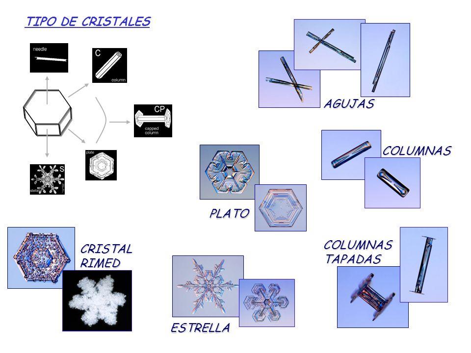 CLASIFICACIÓN DE TIPOS DE CRISTALES DE NIEVE