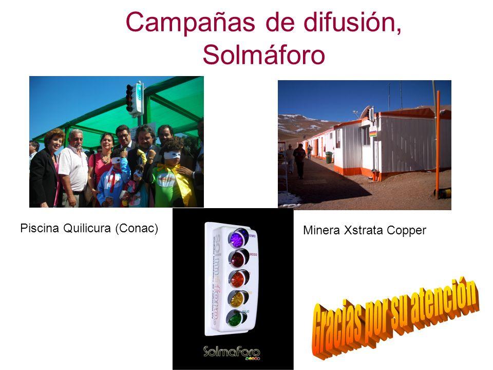 Campañas de difusión, Solmáforo Piscina Quilicura (Conac) Minera Xstrata Copper
