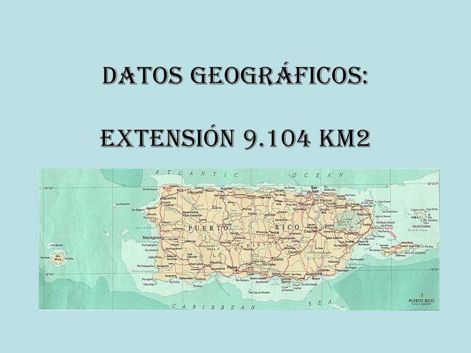 Datos geográficos: Extensión 9.104 km2