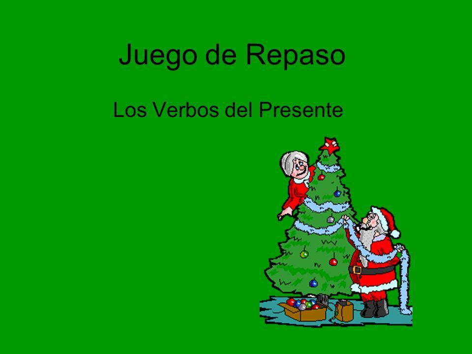 Dormir/comenzar Santa___________ hasta las cinco de la tarde y entonces él y los elfos ____________ a hacer las preparacións finales.