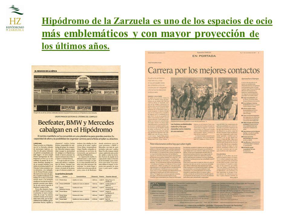 Hipódromo de la Zarzuela es uno de los espacios de ocio más emblemáticos y con mayor proyección de los últimos años.