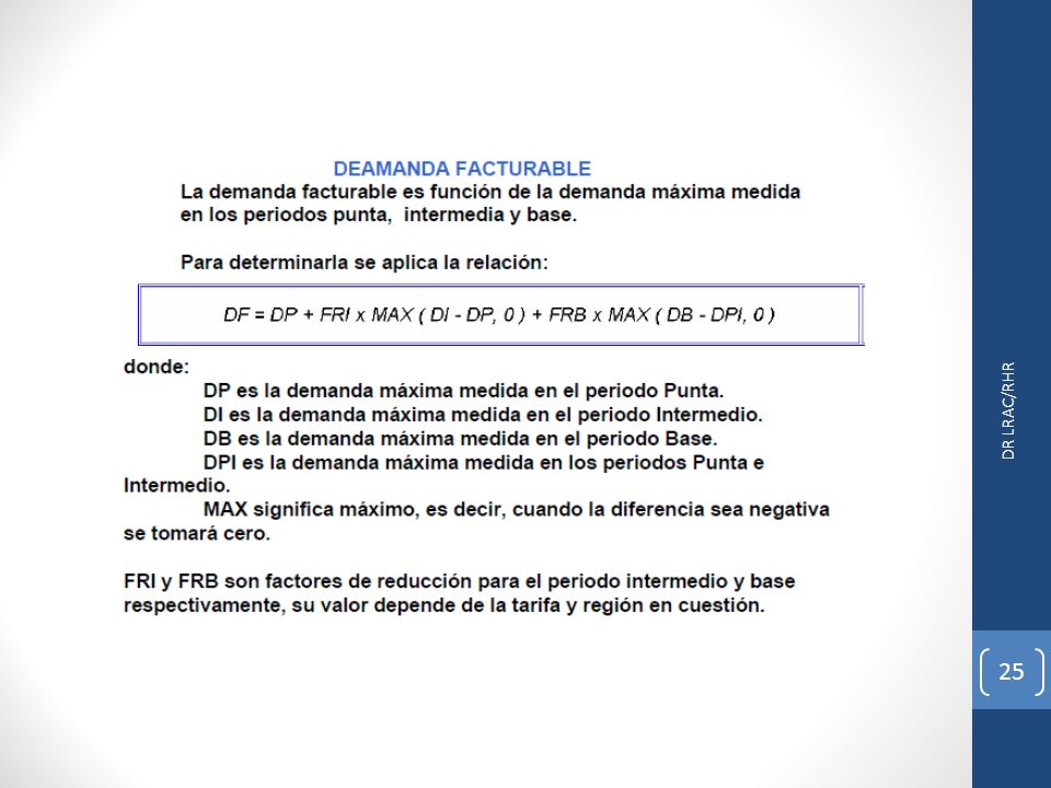 DR LRAC/RHR 25