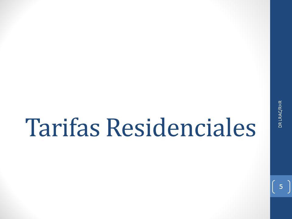 Tarifas Residenciales DR LRAC/RHR 5