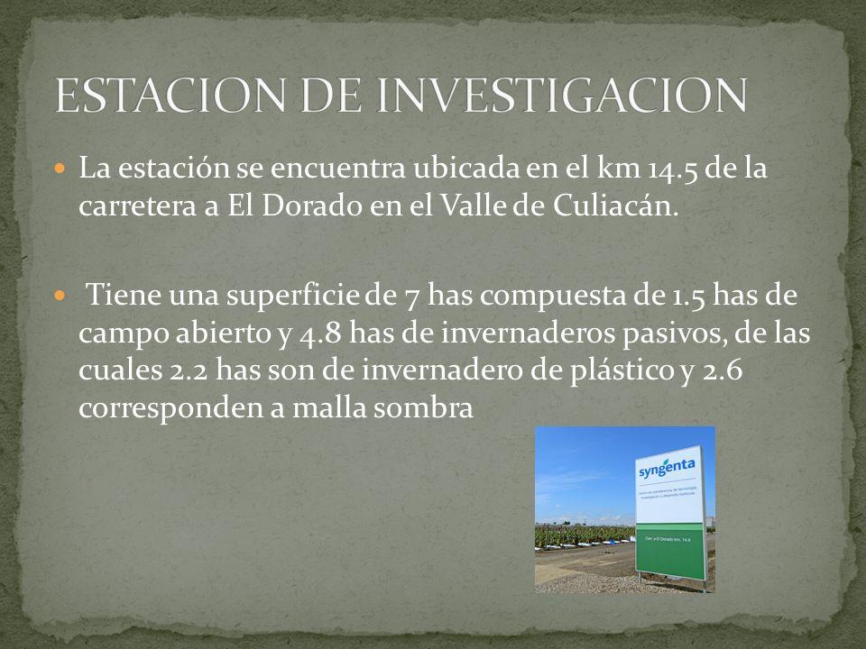 La estación se encuentra ubicada en el km 14.5 de la carretera a El Dorado en el Valle de Culiacán. Tiene una superficie de 7 has compuesta de 1.5 has