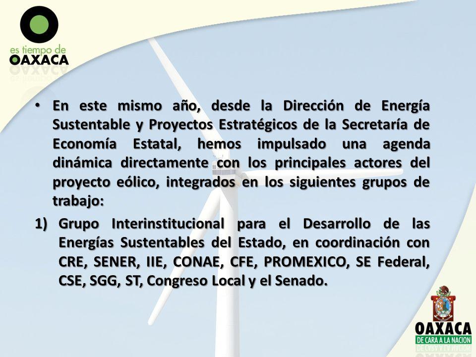 En este mismo año, desde la Dirección de Energía Sustentable y Proyectos Estratégicos de la Secretaría de Economía Estatal, hemos impulsado una agenda
