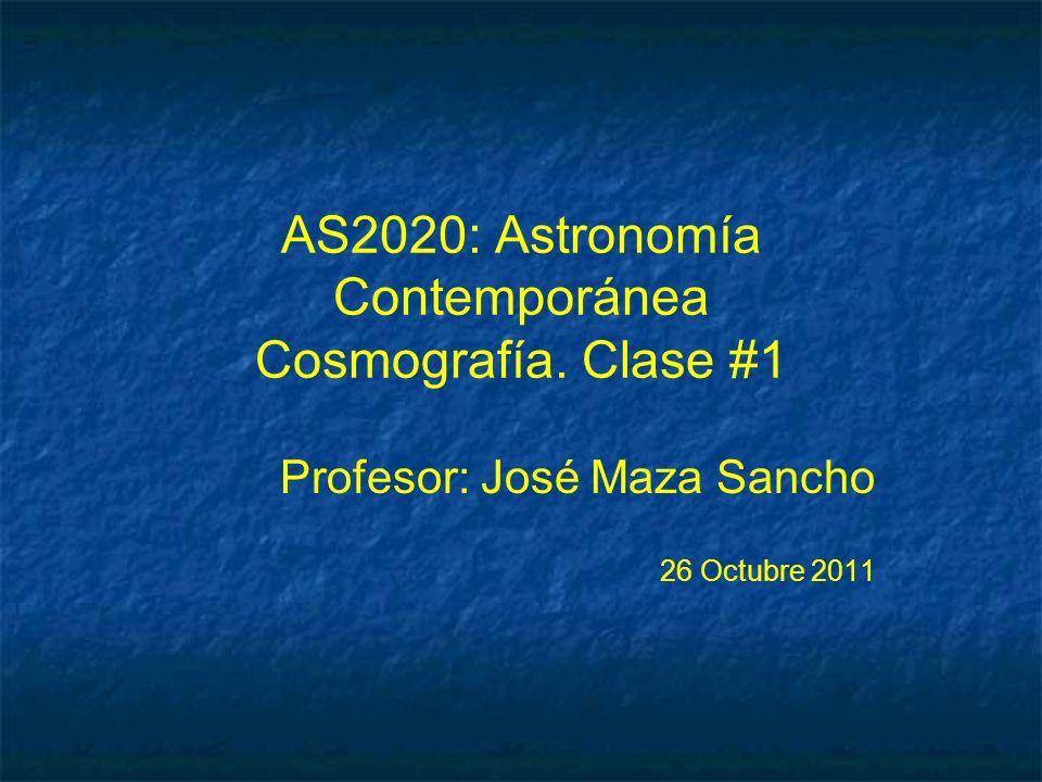 AS2020: Astronomía Contemporánea Cosmografía.