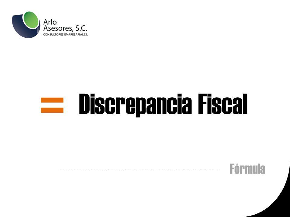 Fórmula = Discrepancia Fiscal