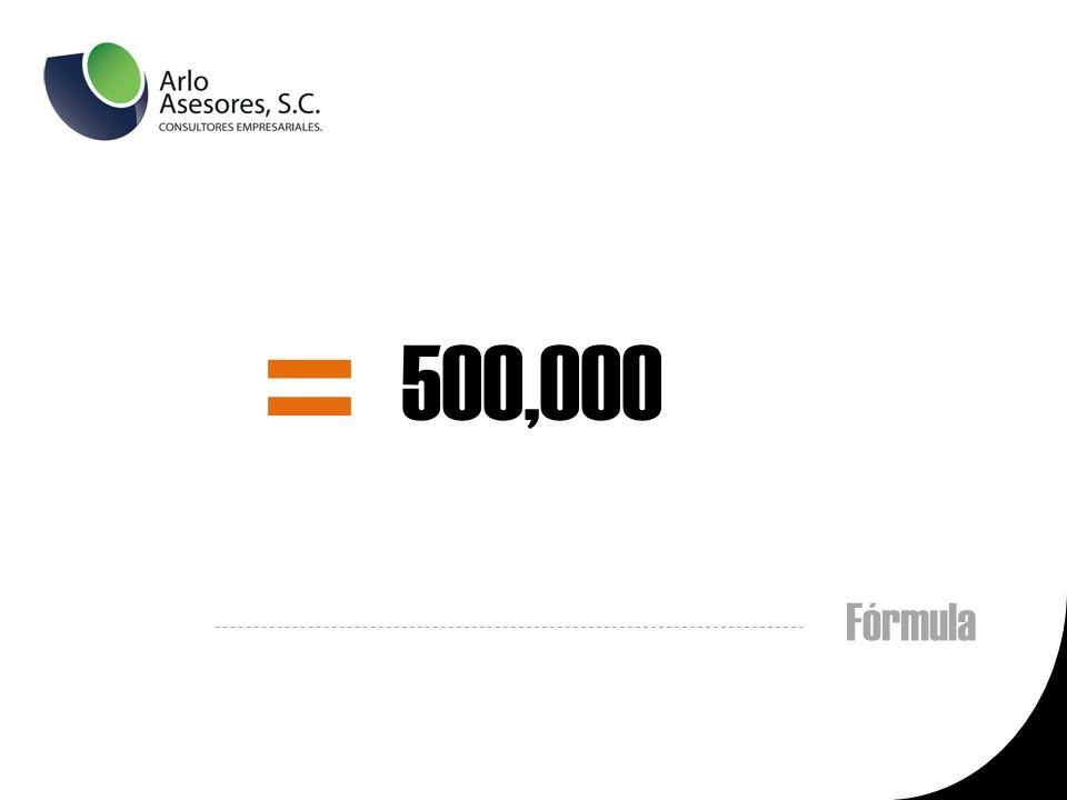 Fórmula = 500,000